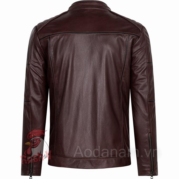 Ao da biker 18 of 52 áo da thật , áo da nam