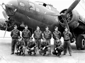 457th Bombardment Group B 17 Flying Fortress Crew.Rose Olive Áo da nam, áo da thật