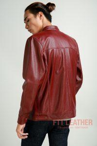 Áo da dê 2 túi hộp màu đỏ